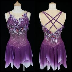 Figure Skating Outfits, Ice Queen, Prom Dresses, Formal Dresses, Ice Skating, Skate, Backless, Ballet, Female