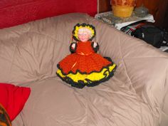 Grandma bed doll from , tdcreations.com  have to put the flowers on her dress and hat but she is done for the most part .