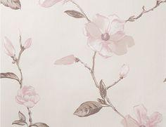 Tapete Vlies Blume rosa-beige