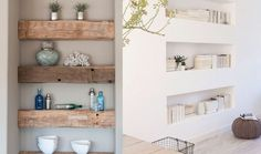 Nicchie Foto Baby, Flat Ideas, Living Room Interior, Bathroom Medicine Cabinet, Floating Shelves, Shabby Chic, New Homes, Loft, House Design