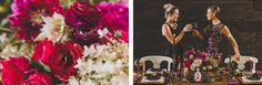 The NotWedding Atlanta Styled Shoot. Hot Pink, Black and Gold Rustic Wedding Decorations. #wedding decoration ideas  Photo Credit: Jason Hales Photography