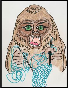 Bigfoot crocheting day27 #mythicalcreatures  #mythicalaugust #30daydrawingchallenge 30 Day Drawing Challenge, Bigfoot, Mythical Creatures, Crocheting, Activities, Art, Crochet, Art Background, Magical Creatures