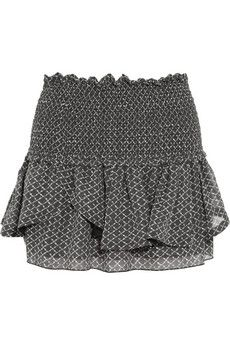 Isabel Marant Aura printed silk-chiffon mini skirt | THE OUTNET