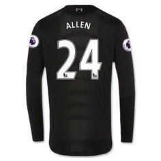 Liverpool FC 2016-17 Season Away LS Shirt #24 ALLEN Jersey [F467]