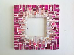 Rosa marco mosaico
