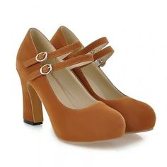 Ladies Square High Heels Shoes