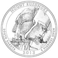 The Mount Rushmore National Memorial will be featured on the 20th Quarter in the America the Beautiful Quarters Program!