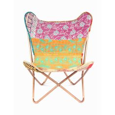 love the chair cover Karma Living: Kantha Sling Chair Gypsy Living, Granny Chic, Gadget Gifts, Deco Furniture, Butterfly Chair, Funny Gifts, Tech Accessories, Home Interior Design, Bali