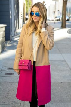 Pink and Camel