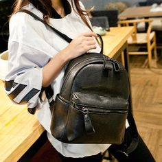 Simple Embossed Black Leather Backpack – Festyl #festyl #fashionist #instastyle #stylish #womanfashion #instafashion #shoppingaddict #instyle #ontrend #shopaholics #pickoftheday #ootd #fashionstore #womanstyle #shoulderbags #instabags #bagoftheday #bagshop #fashionbags #bagaddict #bagaholic #leatherbags #leatherbagsph #bagsph #bagsonlineshop #bagsonlineshop #crossbodybag #totebags #musthavebags #backpack Black Leather Backpack, Fashion Backpack, Ootd, Backpacks, Stylish, Simple, Bags, Handbags, Backpack