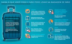 Saiba o que não pode levar na bagagem de mão