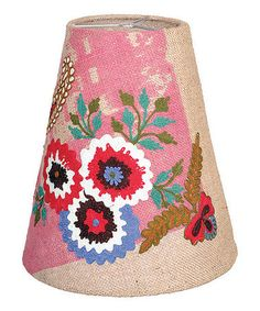 With intricate embroidered details and a bold design, this vintage-inspired shade adds a touch of rustic charm to any lamp base. Household Items, Lamp, Decor, Bohemian Decor, Shades, Rustic Charm, Decorative Lamp Shades, Lamp Shade, Recycled Cotton