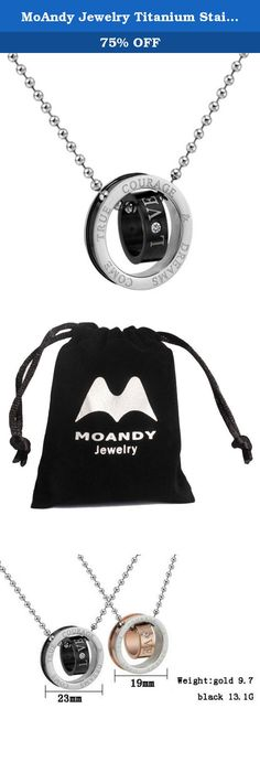 MoAndy Jewelry Titanium Stainless Steel Men's Fashion Necklace 2 Rings Pendants Cubic Zirconia Neckwear Black. The comfort wear design,high quality necklace pendant.made of Stainless Steel,fashion design which shows your fashion look,Find a special gift for a loved one or a beautiful piece that complements your personal style with jewelry from the Moandy Collection.
