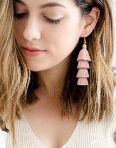 The Little Market layered tassel earrings
