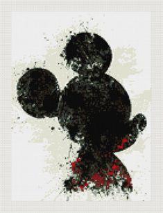 Mickey Mouse cross stitch pattern PDF Mickey Mouse patron