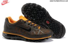 Cheap Discount Mens Nike Air Max 2011 Ironstone Black-Orange Pee Sneakers The Most Lightweight Shoes