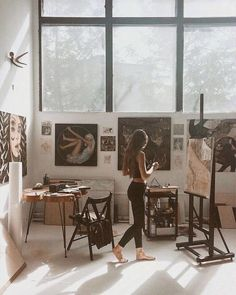 Pin by inge rahmawatie on alone art studios, art, dream art. Alone Art, Atelier D Art, My Art Studio, Painting Studio, Studio Studio, Studio Setup, Dream Art, Art Studios, Studio