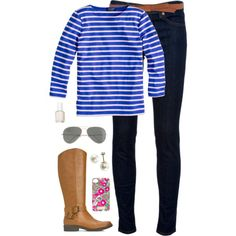 bold stripes, created by classically-preppy on Polyvore