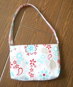 Twice as nice pink floral toddler purse by ChildishThoughts, $5.00