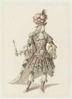 """Recueil """"Costumes des Fêtes, Mascarades - Théâtre de Louis XIV"""" - Jean I Bérain (1640-1711) - Projet de costume d'opéra – Paris, Musée du Louvre"""