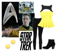 """Star Trek: Command"" by idmiliris ❤ liked on Polyvore featuring Karl Lagerfeld, Valentino, Karen Millen, Gorjana, women's clothing, women, female, woman, misses and juniors"