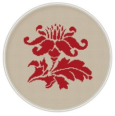 Red Flower cross stitch pattern cross stitch by MagicCrossStitch