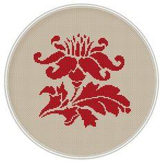Red Flower cross stitch pattern cross stitch by MagicCrossStitch