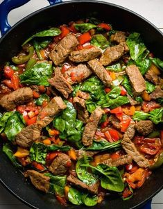 This teriyaki beef stir-fry is incredibly easy for a busy weeknight. While flank or skirt steak would be great here, we opted for top-round steak, which is nicely tender after marinating for just 30 minutes. Get the recipe from Delish. Steak Stirfry Recipes, Steak Dinner Recipes, Skirt Steak Recipes, Stir Fry Recipes, Beef Recipes, Cooking Recipes, Healthy Recipes, Easy Recipes, Broccoli Recipes
