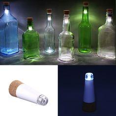 Usb del poder más elevado brillante recargable de la forma del corcho vacío botella de vino Suck Durable de la lámpara decoración casera luz de noche