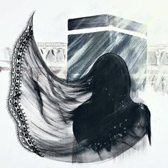 Hello Kitty Iphone Wallpaper, Hijab Drawing, Islamic Cartoon, Scratchboard Art, Islamic Art Pattern, Anime Muslim, Hijab Cartoon, Islamic Paintings, Islamic Girl
