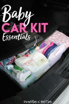 The Prepared Mama: Emergency Car Kit - Swaddles n' Bottles. Best supplies to keep with you in the car when traveling with kids, and even just running errands on a day to day basis!