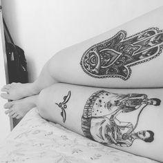 good morning! 발꼬락 안뇽 프리다 안뇽 #tattoo #tattooist #tattooed #selftattoo #twofridas #frida #fridakahlo #fridakahlotattoo #프리다타투 #프리다칼로 #프리다칼로타투 #hamsa #hamsatattoo #부처님의눈 #부처의눈 #부처의눈타투 #budda #buddatattoo
