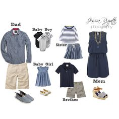 """What To Wear - Nautical Theme Family Portraits"" by jessicarizzottophotography on Polyvore"