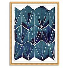Kate Roebuck, Blue Tile on Tan Print