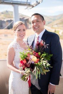 Floral, Decor & Planning: Harvest Moon Events | Photo: Trevor Hooper | Venue: Hyatt Centric Park City