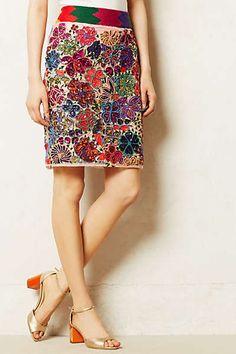 Anthropologie - Palenque Pencil Skirt