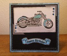 Bombshell Stamps Blog: A sparkling brand new Harley Davidson