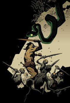 Conan #31 (variant cover) // Mike Mignola