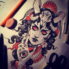 Light them up, pretty Black Tattoos, New Tattoos, Girl Tattoos, Tattoo Girls, Tattoo Sketches, Tattoo Drawings, Tattoo Art, Vampire Tattoo, Witch Drawing