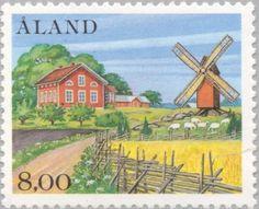 Sello: Landscapes (Åland Islas) (Landscapes) Mi:AX 13,Yt:AX 13,AFA:AX 13