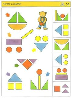 Piccolo: schaar kaart 14 Preschool Learning Activities, Brain Activities, Preschool Worksheets, Holiday Activities, Toddler Activities, Preschool Activities, Teaching Kids, Kids Learning, Visual Perception Activities