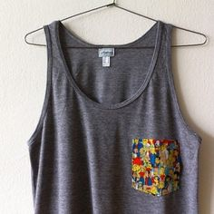 Image of THE SIMPSONS POCKET TANK TOP (grey)
