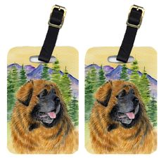 Pair of 2 Leonberger Luggage Tags