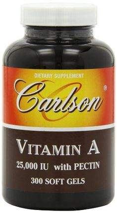 Carlson Labs Vitamin A with Pectin, 25000 IU, 300 Softgels ** Learn more by visiting the image link.