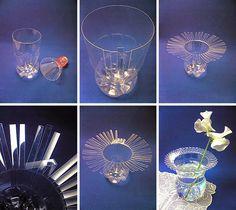 Plastic bottle vase DIY