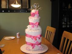 Bridal Shower Gift- Towel Cakes