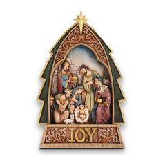 A Child is Born Nativity Tree Figurine