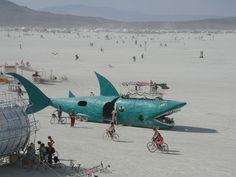A Giant Shark in a Desert