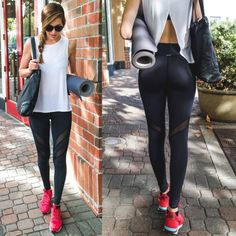 Women's Yoga Gym Workout Sports Leggings is a great looking piece of sports equipment to use during various exercises. You can use it when doing yoga or gym Running Leggings, Gym Leggings, Yoga Wear, Gym Wear, Yoga Fashion, Fitness Fashion, Gym Pants, Fitness Pants, Sports
