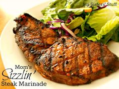 Mom's Sizzling Steak Marinade will be so delicious for your Father's Day grilling!